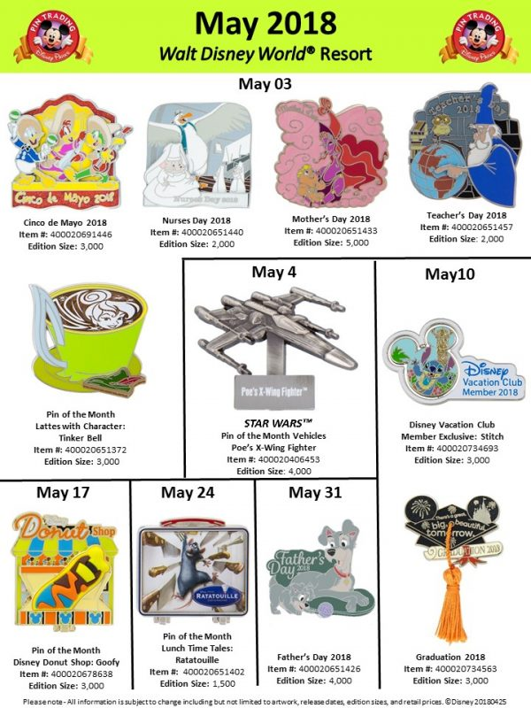 Walt Disney World May 2018 Pin Preview