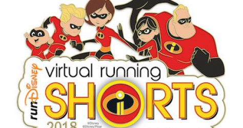 runDisney Incredibles 2 Virtual Running Shorts 2018 Pin