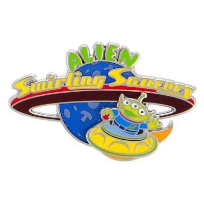 Alien Swirling Saucers Pin