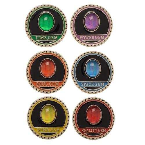 Avengers Infinity War Gem Pin Set