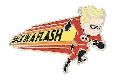 Back in a Flash Incredibles Pin