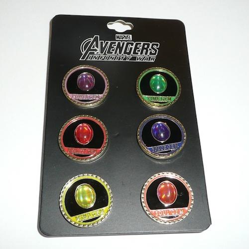 Bioworld Avengers Infinity War Gem Pin Set