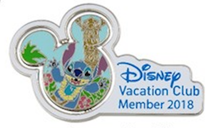 Disney Vacation Club 2018 Stitch Pin