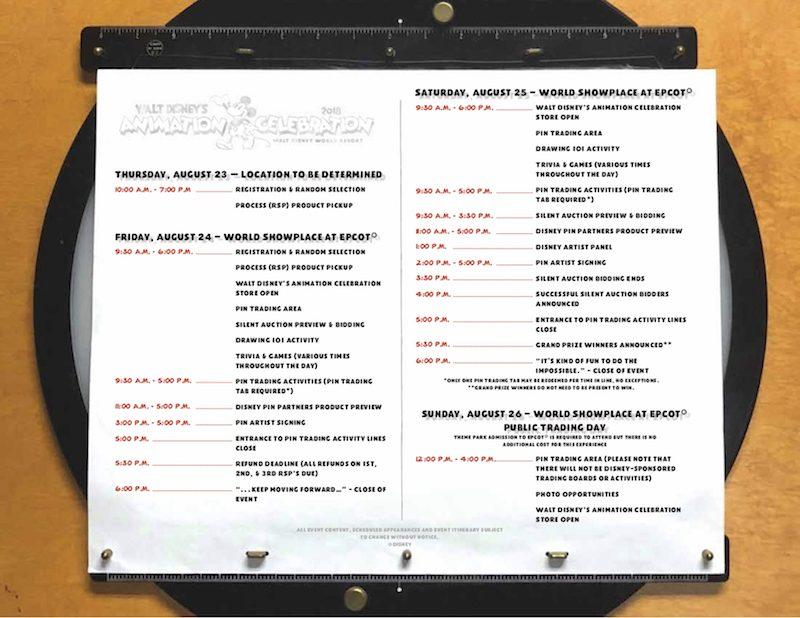 walt disney s animation celebration event itinerary disney pins blog