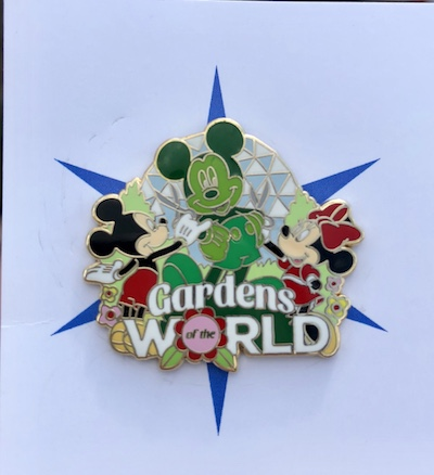 Gardens of the World Mickey Topiary Pin