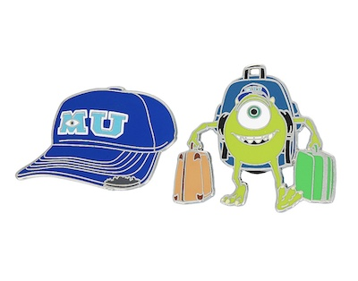 Monsters University Hat & Mike Pin Set
