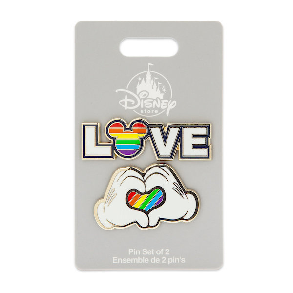 Rainbow Mickey Collection shopDisney Pin Set