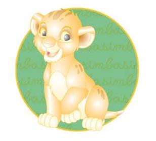 Simba Cursive Cuties Disney Pin