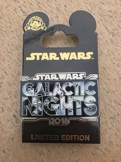 Star Wars Galactic Nights 2018 Pin