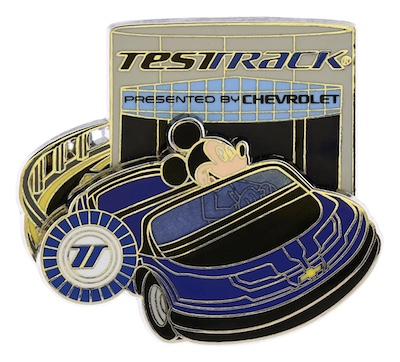 Test Track Mickey Pin