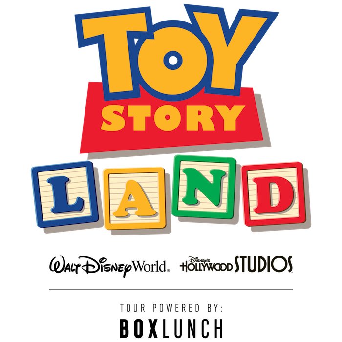 Toy Story Land x BoxLunch logo
