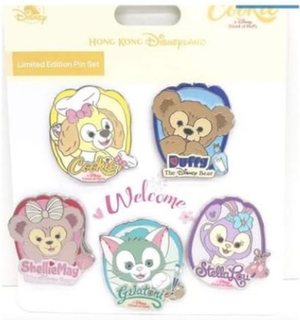Cookie and Friends Pin Set