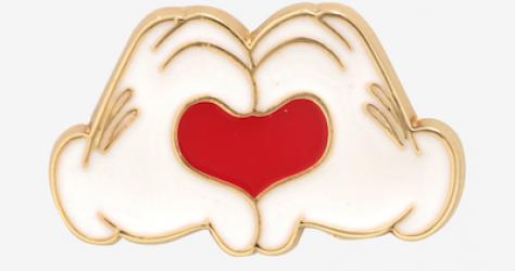 Disney Mickey Mouse Heart Hands Enamel Pin