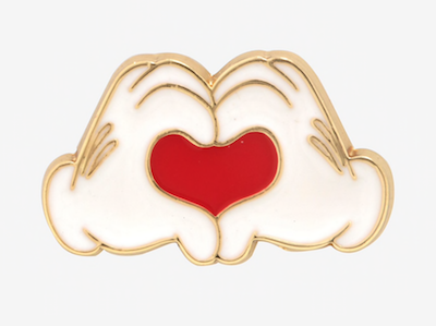Disney Mickey Mouse Heart Hands Enamel Pin