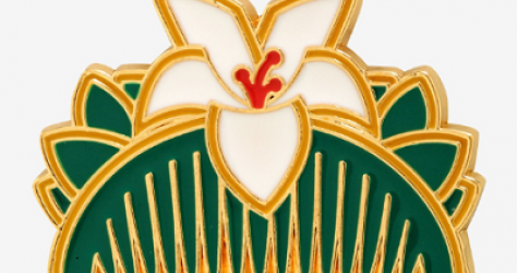 Disney Mulan Hair Comb Enamel Pin