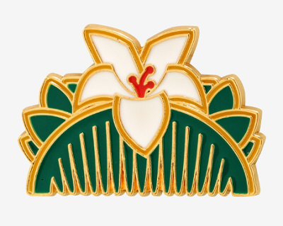 Disney Mulan Hair Comb Enamel Pin