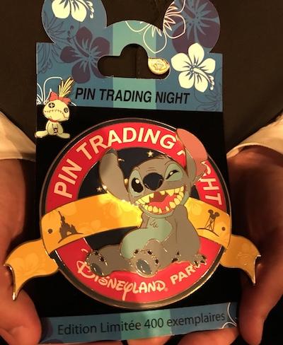 Disneyland Paris Pin Trading Night Jumbo Stitch Pin