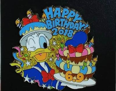 Donald Duck 2018 Birthday Pin