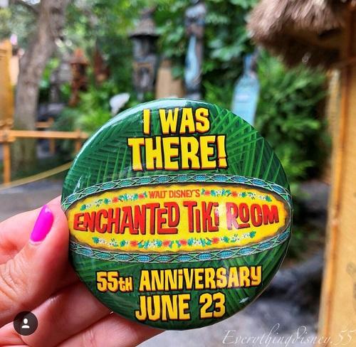 Enchanted Tiki Room 55th Anniversary Button