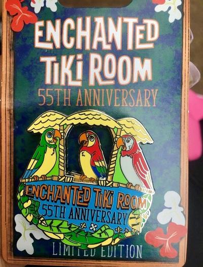 Enchanted Tiki Room 55th Anniversary Pin