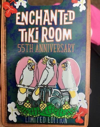 Enchanted Tiki Room 55th Anniversary White Birds Pin