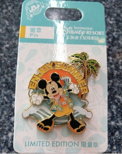 Enjoy Summer 2018 Mickey Mouse Shanghai Pin
