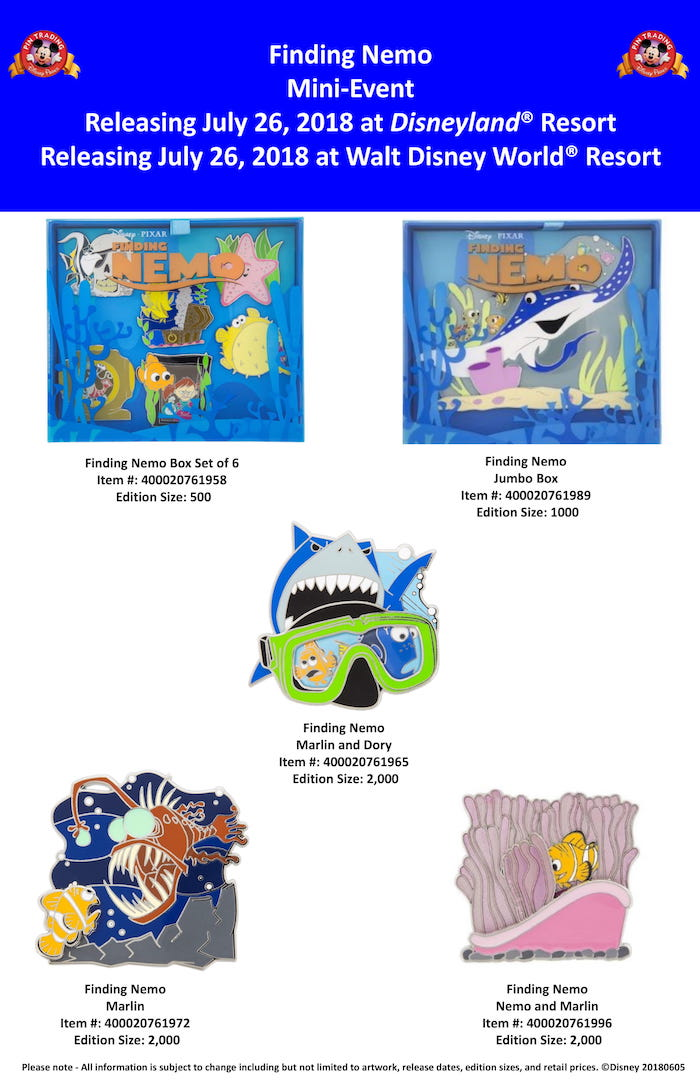 Finding Nemo Mini-Event 2018 Pin Release