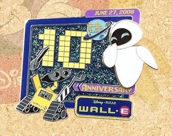 Hong Kong Disneyland WALL-E 10th Anniversary Pin