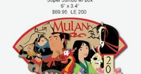 Mulan 20th Anniversary Super Jumbo WDI Pin