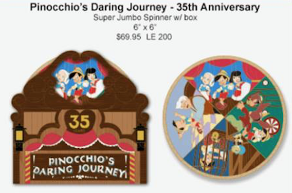 Pinocchio's Daring Journey 35th Anniversary WDI Pin
