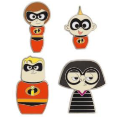 Pixar Fest 2018 The Incredibles Pin Set