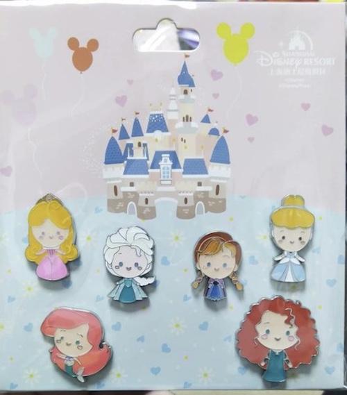 Shanghai Disney Baby Princess Pin Set