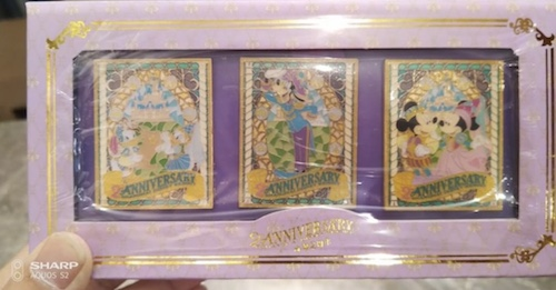 Shanghai Disney Resort 2nd Anniversary Box Pin Set