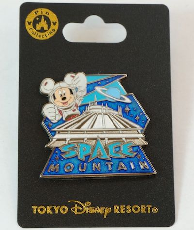 Space Mountain 2018 Tokyo Disney Resort Pin