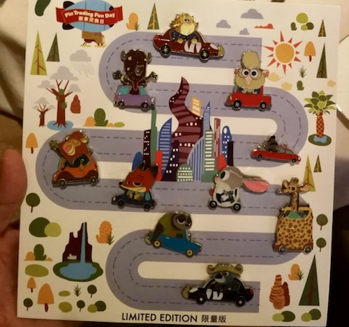 Zootopia Car Series - Shanghai Pin Trading Fun Day 2018