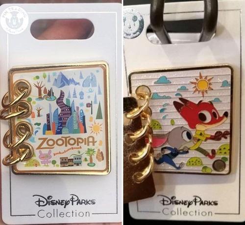 Zootopia Notebook Disney Pin