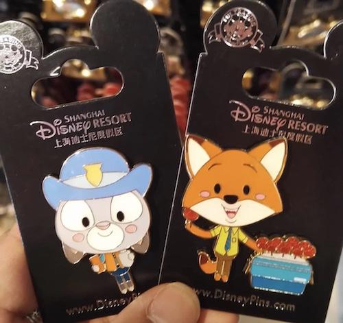 Zootopia Pins - Shanghai Disney Resort