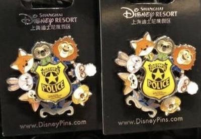Zootopia Spinner Pin - Shanghai Disneyland