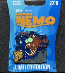 Anglerfish Finding Nemo 15th Anniversary Pin