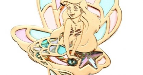 Ariel Gold Pin - Disney Store Japan