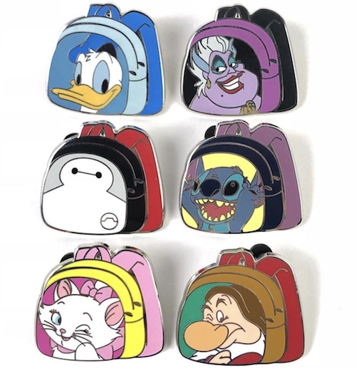 Backpack Disney Pins - Magical Mystery Series 12