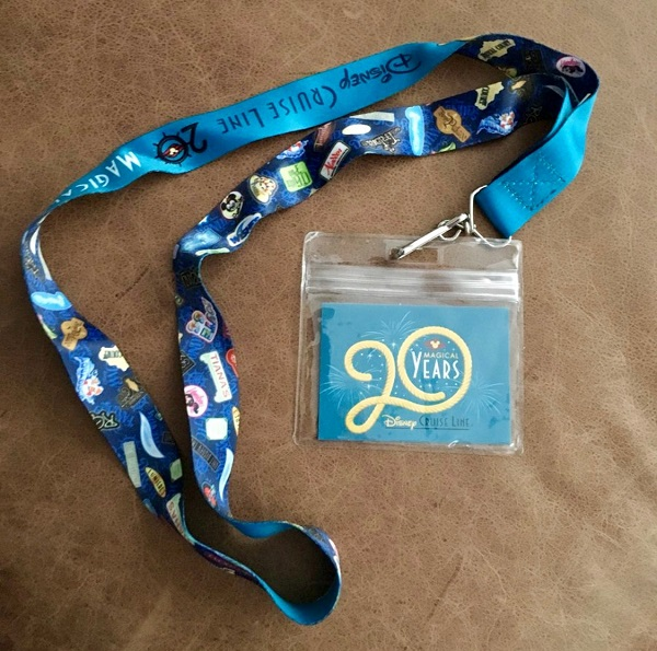 Disney Cruise Line 20th Anniversary Lanyard