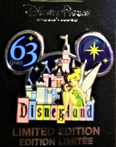 Disneyland 63rd Anniversary Pin