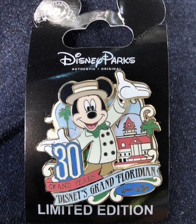 Disney's Grand Floridian 30th Anniversary Cast Member Pin