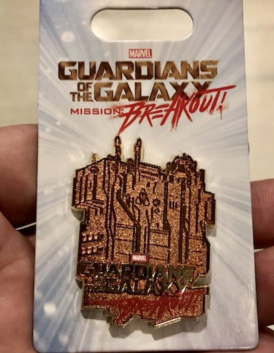 Guardians of the Galaxy Mission Breakout Gold Pin