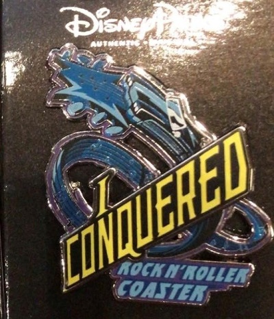 I Conquered Rock n' Roller Coaster Pin