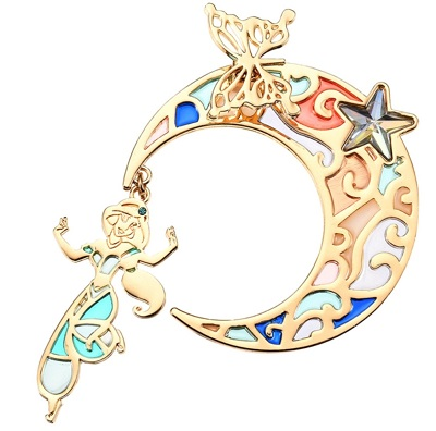 Jasmine Gold Pin - Disney Store Japan