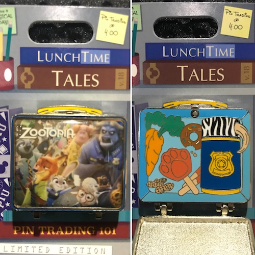 Lunch Time Tales 2018 Zootopia Pin
