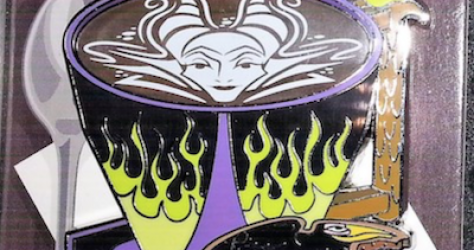 Maleficent Latte Pin