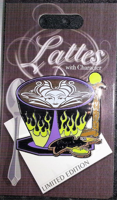 Maleficent Lattes with Character Pin